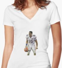 Tim Tebow  Women's Fitted V-Neck T-Shirt