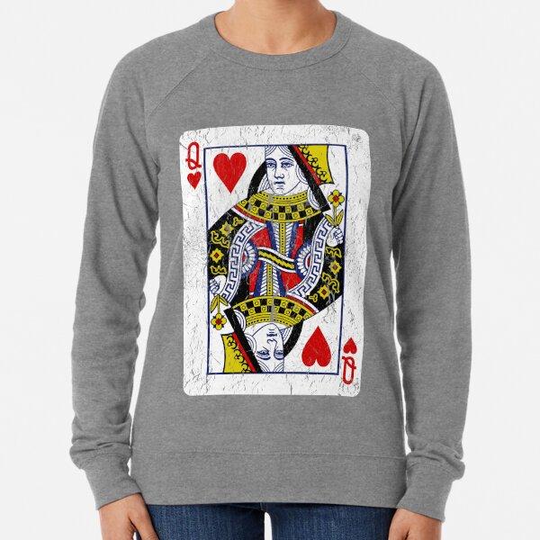 Queen of Hearts Playing Card Lightweight Sweatshirt