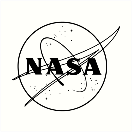 Nasa Logo Black And White Art Prints By Yeet Arizona