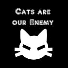 Cats are our Enemy | White by Iskybibblle