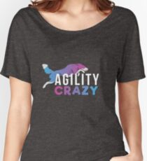 Agility CRAZY - Pink & Blue Women's Relaxed Fit T-Shirt
