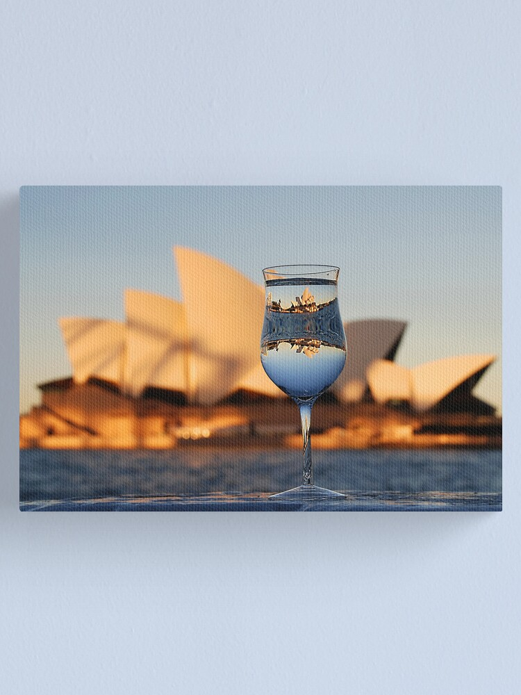 Alternate view of Glass IV, or Opera on the Rocks Canvas Print