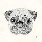 Swirly Pug by . VectorInk