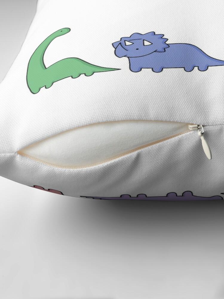Alternate view of Dinosaur Illustrations Throw Pillow
