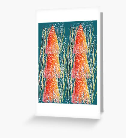 Music Abstract Greeting Card