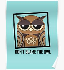 DON'T BLAME THE OWL Poster