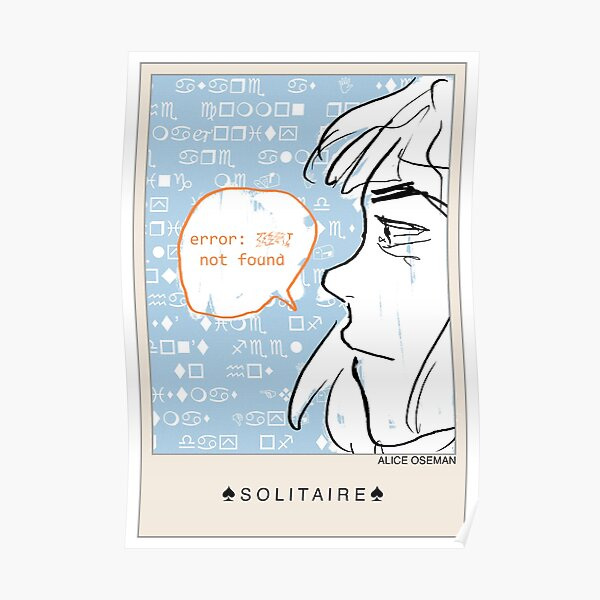Solitaire Poster Poster
