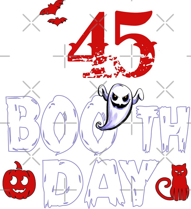 Funny 45th Boo Ghost Scary Vintage Halloween Birthday By SpecialtyGifts