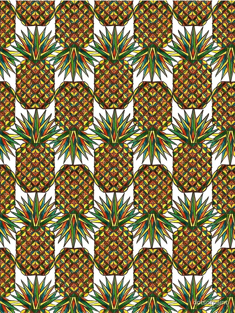 Pineapple Pattern by dotsofpaint