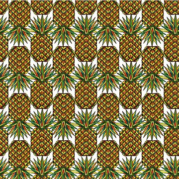Pineapple Pattern by dotsofpaint