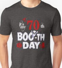 Funny 70th Boo Ghost Scary Vintage Halloween Birthday T-Shirt
