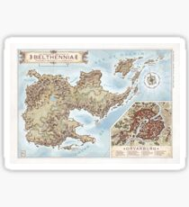 Belthennia - a map of its Independent Territories Sticker