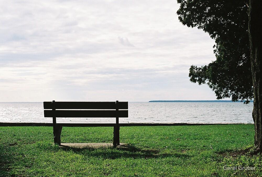 Door County bench by Gerel Gruber