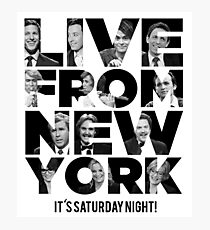 Live From New York, It's Saturday Night - Saturday Night Live Photographic Print