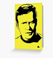 William Shatner Star Trek Greeting Card