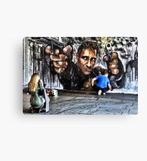 Public Art , graffiti  Canvas Print