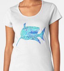 Swirly Shark Women's Premium T-Shirt