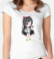 Maplestory Based Character Women's Fitted Scoop T-Shirt
