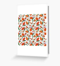 Birds of Paradise - Repeating Print - CreateArtHistory - Botanicals Greeting Card