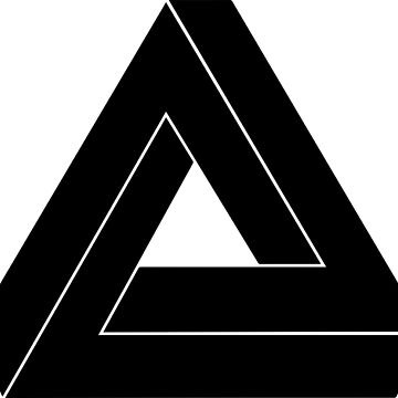 Penrose Triangle - Optical Illusion by SeijiArt