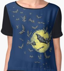 Bat Swarm (Shirt) Women's Chiffon Top