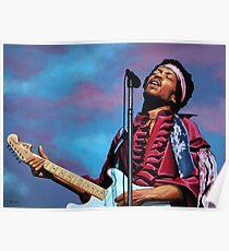 Jimi Hendrix Painting 2 Poster