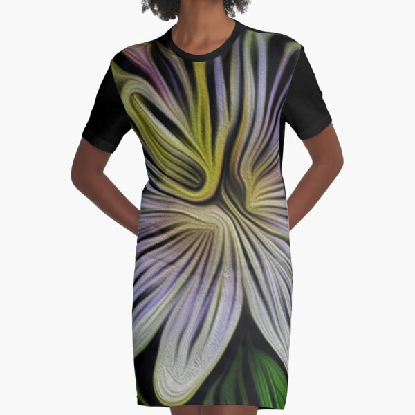 The Passion Flower Graphic T-Shirt Dress