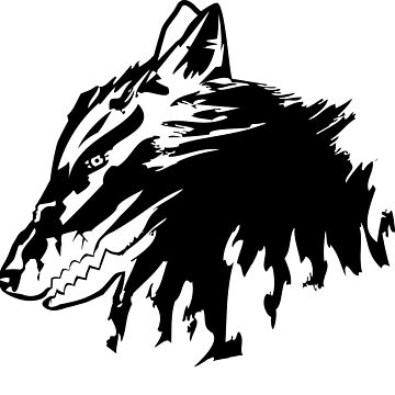 Wolf of madness  | Minimalist Vector by Whyking