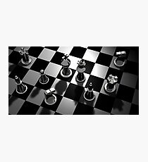 Chess Board Game Photographic Print