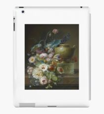 Christiaen van Pol (Dutch, Still life of roses, tulips, and other flowers on a marble ledge with a sculpted marble urn iPad Case/Skin