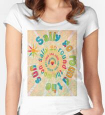 Sally Go Around-Available As Art Prints-Mugs,Cases,Duvets,T Shirts,Stickers,etc Women's Fitted Scoop T-Shirt