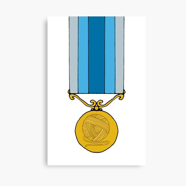 Knitting medal Canvas Print