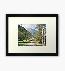 Una passeggiata sul Monte Rosa Macugnaga ItalIA -2000 VISUALIZ. GENNAIO 2015 - VETRINA RB EXPLORE 9 OTTOBRE 2012 Framed Print