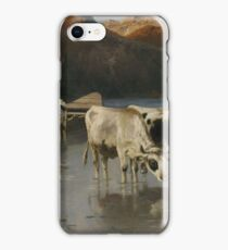 Christian Mali shepherd with cows on Seeufer iPhone Case/Skin