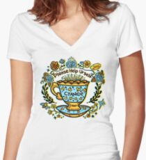 Poison of Choice: Cyanide TeaCup Women's Fitted V-Neck T-Shirt