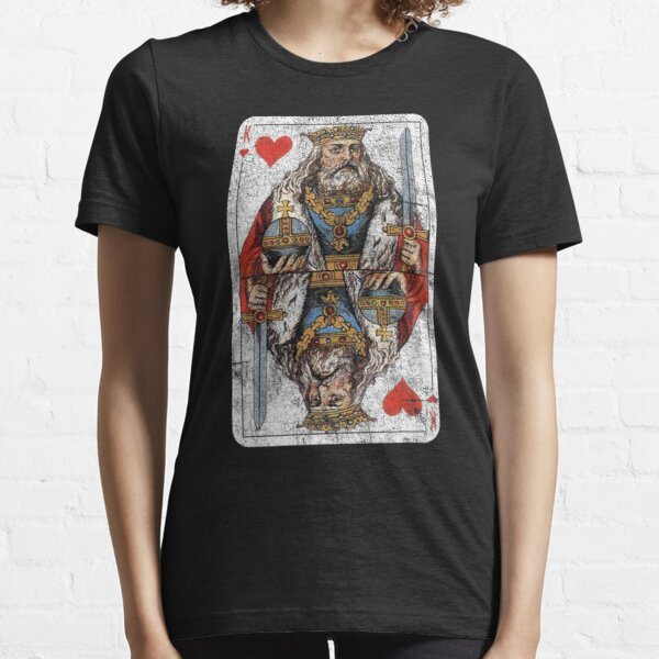 Vintage King of Hearts Playing Card Essential T-Shirt