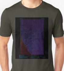 USGS TOPO Map Idaho ID Trout Peak 238554 1989 24000 Inverted T-Shirt