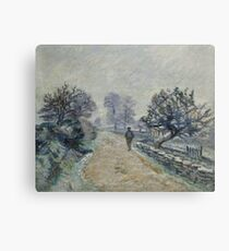 Crozard Road, Little Fog and Frost by Armand Guillaumin Canvas Print
