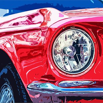 Ford Mustang - closeup by SeijiArt