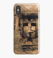 Japanese Samurai in a Traditional Temple iPhone Case/Skin