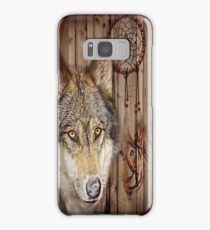 western country native dream catcher wolf art Samsung Galaxy Case/Skin