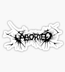 Band Aborted Logo Black Sticker