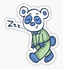 Sleepy Panda Sticker