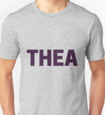 A Purple Design for Thea - Thea's becoming a popular name Unisex T-Shirt