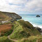 Trebarwith strand Cornwall by eddiej
