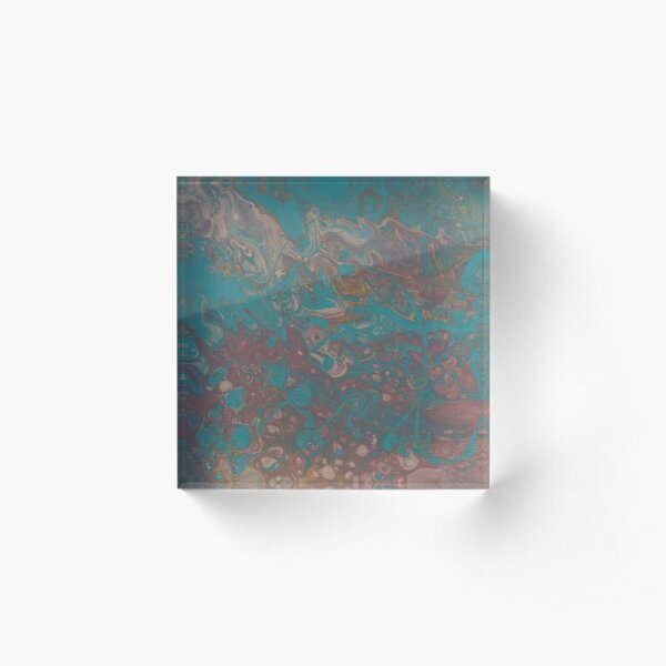 Strolling Along - Abstract Acrylic Block