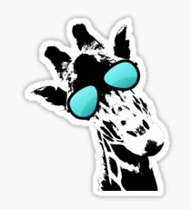 Too cool for school Giraffe  Sticker