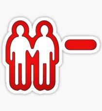 Negative relationship points. Sticker
