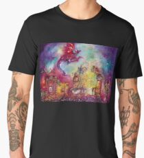 GARDEN OF THE LOST SHADOWS  / FLYING RED DRAGON Men's Premium T-Shirt
