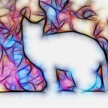 Cosmic cat white by SarahTrangmar